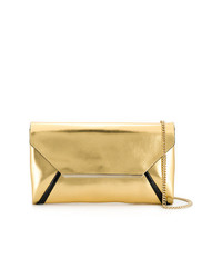 Pochette en cuir dorée Lanvin