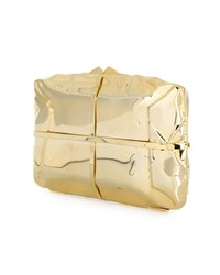 Pochette en cuir dorée Benedetta Bruzziches