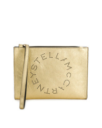 Pochette en cuir dorée Stella McCartney