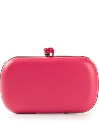Pochette en cuir fuchsia RED Valentino
