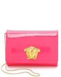 Pochette en cuir fuchsia Versace
