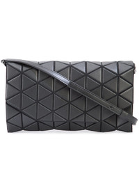 Pochette en cuir géométrique noire Bao Bao Issey Miyake