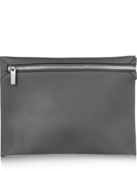 Pochette en cuir gris foncé Valextra