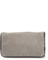Pochette en cuir grise Stella McCartney