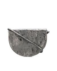 Pochette en cuir grise Zilla