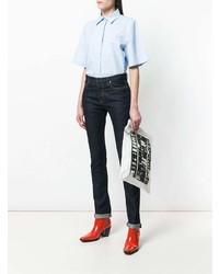 Pochette en cuir imprimée blanche et noire Calvin Klein 205W39nyc