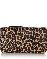 Pochette en cuir imprimée léopard beige Tamara Mellon