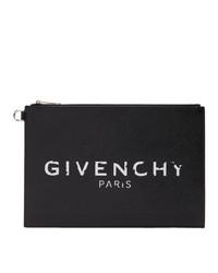 Pochette en cuir imprimée noire et blanche Givenchy