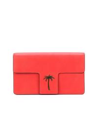 Pochette en cuir imprimée rouge Tomas Maier