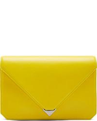 Pochette en cuir jaune Alexander Wang
