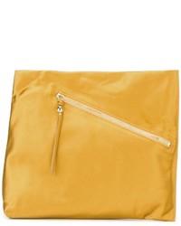 Pochette en cuir jaune Diane von Furstenberg
