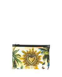 Pochette en cuir jaune Dolce & Gabbana