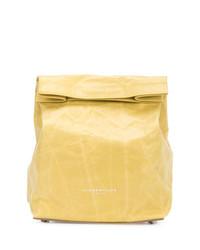 Pochette en cuir jaune Simon Miller