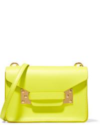 Pochette en cuir jaune Sophie Hulme