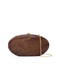 Pochette en cuir marron Rocio