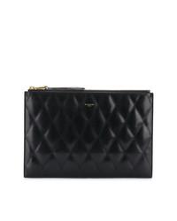 Pochette en cuir matelassée noire Givenchy