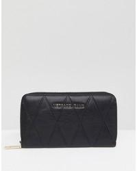 Pochette en cuir matelassée noire Versace Jeans