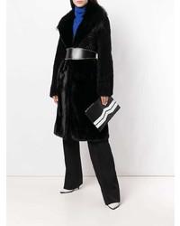 Pochette en cuir noire et blanche Givenchy