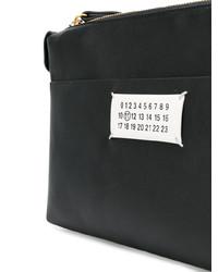 Pochette en cuir noire et blanche Maison Margiela