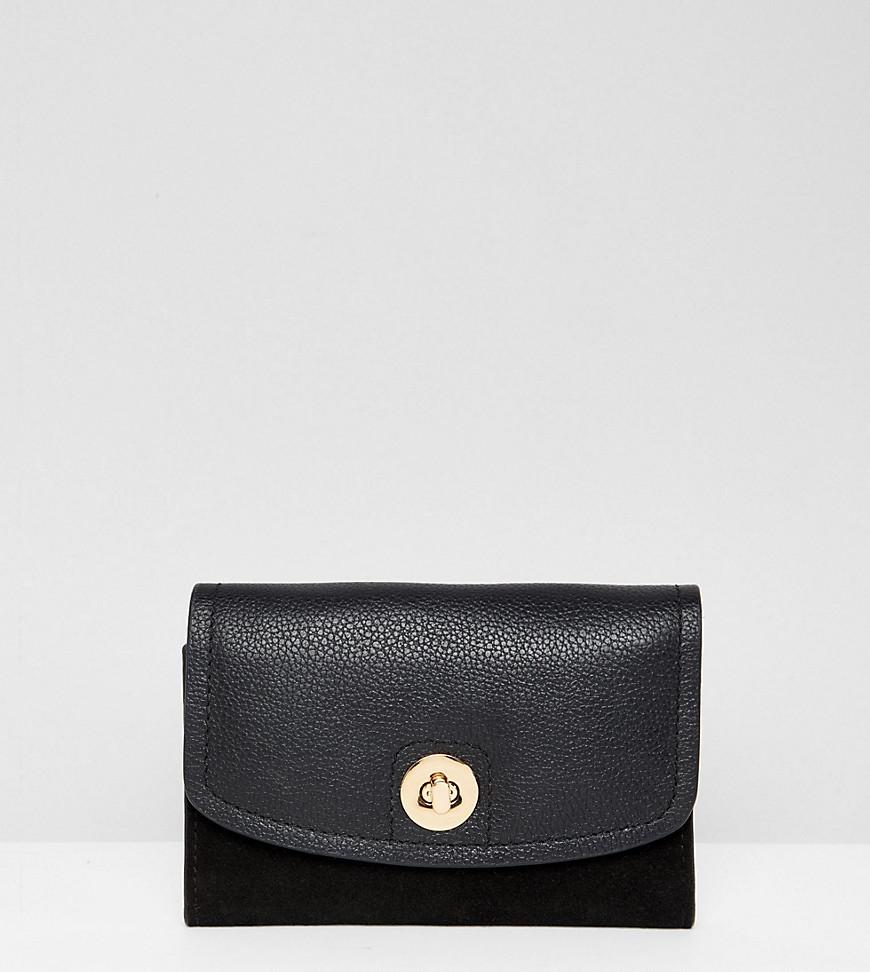 Pochette en cuir noire Accessorize