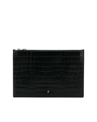 Pochette en cuir noire Alexander McQueen