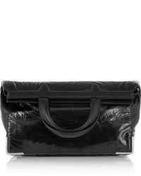 Pochette en cuir noire Alexander Wang