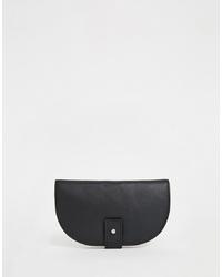 Pochette en cuir noire ASOS DESIGN