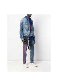 Pochette en cuir noire Calvin Klein Jeans