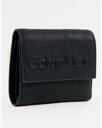 Pochette en cuir noire Calvin Klein
