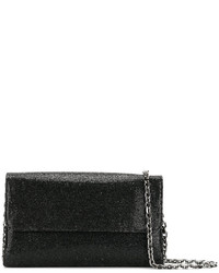 Pochette en cuir noire Casadei