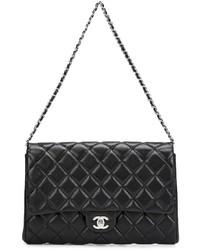 Pochette en cuir noire Chanel