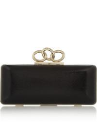 Pochette en cuir noire Diane von Furstenberg