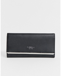 Pochette en cuir noire Fiorelli