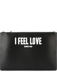 Pochette en cuir noire Givenchy