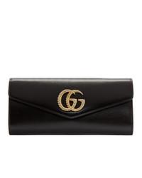 Pochette en cuir noire Gucci
