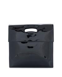 Pochette en cuir noire Helmut Lang