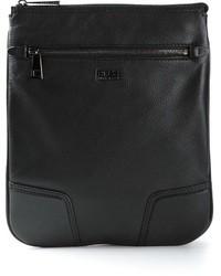 Pochette en cuir noire Hugo Boss