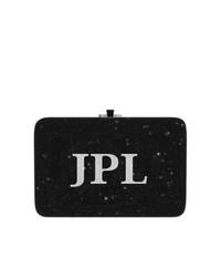 Pochette en cuir noire Judith Leiber Couture