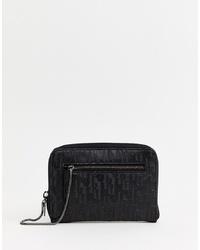 Pochette en cuir noire Juicy Couture