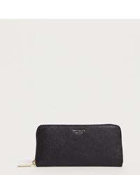 Pochette en cuir noire Kate Spade