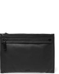 Pochette en cuir noire Lanvin