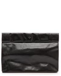 Pochette en cuir noire Marie Turnor