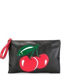 Pochette en cuir noire RED Valentino