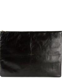 Pochette en cuir noire Soulland