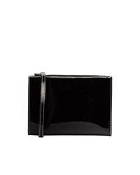 Pochette en cuir noire Stella McCartney