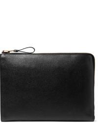 Pochette en cuir noire Tom Ford