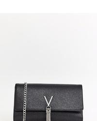 Pochette en cuir noire Valentino by Mario Valentino