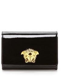 Pochette en cuir noire Versace