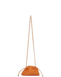 Pochette en cuir orange Bottega Veneta