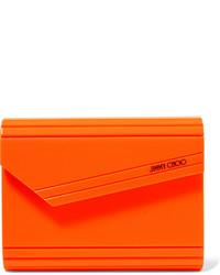 Pochette en cuir orange Jimmy Choo